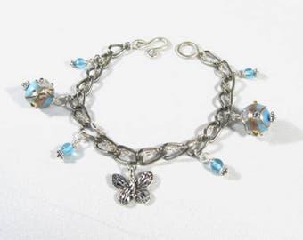 Silver link Charm bracelet