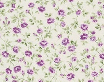 Robert Kaufman - Purple Petite Floral by Robert Kaufman Sevenberry Petite Victoriana Collection - Japanese Cotton Fabric - choose your cut