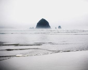 Haystack Rock III - Fine Art Photograph, Ocean, Beach, Sea, City, Oregon, Travel Photography, Wall Art, Room Decor