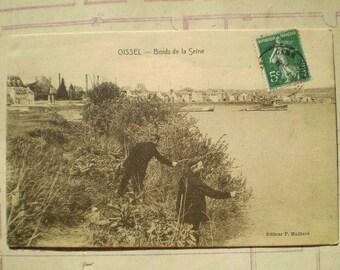 Oissel - Bords de la Seine - Early 1900s - Antique French Postcard