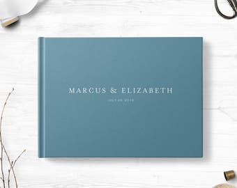 Hardcover guest book, Landscape, Wedding guest book, Various colors gb0087