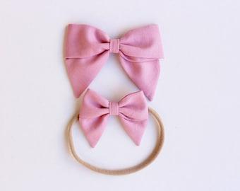 Sailor Bow - Large or Mini - Woodrose