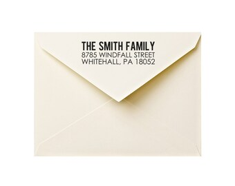 address stamp: custom rubber stamp, return address stamp, wedding address stamp, personal or family address stamp
