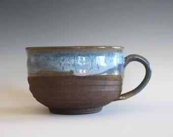 Cappuccino Mug, 24 oz, Pottery Coffee Mug, handmade ceramic soup bowl, handthrown ceramic stoneware pottery mug, unique coffee mug