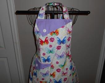 Pastel Butterflies Women's Apron