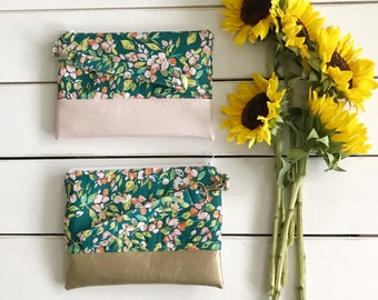 SPRING COLLECTION Teal We Meet Again Mommy Clutch - Clutch - Small handbag - Wallet Wristlet - Modern