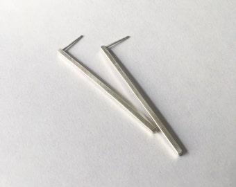 Bar Earrings in Sterling Silver