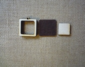 """Square Mini Wooden Embroidery hoop for Necklaces or pendants - 1"""" size"""