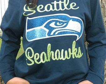 Seattle Seahawks Womens 3/4 sleeve top