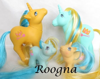 Sandcastle and Shovels TWINS Custom Unicorn My Little Pony G1 MLP