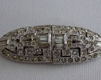 Vintage brooch.Art Deco Coro Duette dress clip,circa 1940, patent numbers 1852188 and 1798867