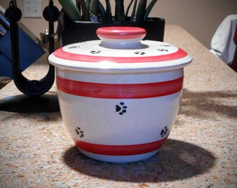 Paws for Treats in Red - Treat Jar (Small)