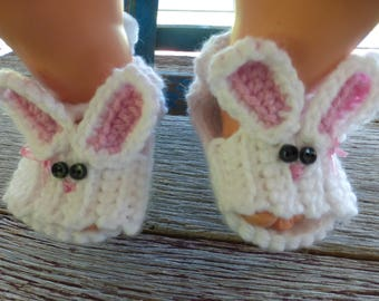 Crocheted Baby Bunny Sandals, Crocheted Baby Booties, Crocheted Baby Girl Booties, Crocheted Baby Sandals