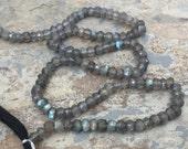 Faceted Labradorite Rondelles, Labradorite Beads, 4mm, 12.5 inch strand.