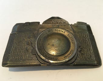 Vintage Pentax Asahi Camera Pewter Belt Buckle Lewis Buckles 1970's Photography photographer