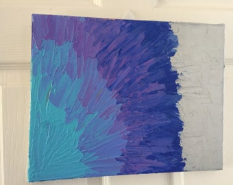 Brushed Petals- Textured Acrylic Painting- Free Shipping!