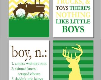 Tractor Nursery Art, Farm Nursery Decor, Deer Sign, Deer Nursery, Tractor Wall Art, Farm Chevron Nursery Art, Printable Nursery Art 8x10s