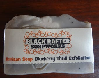 "Black Rafter SoapWorks ""Blueberry Thrill Exfoliation"" Artisan Soap"