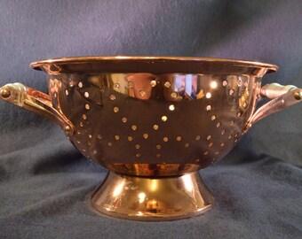 Copper Heart Colander | Decorative Ornate Strainer