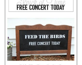 FEED THE BIRDS Farmhouse Stencil -  Make your own home decor signs, pillows, and more