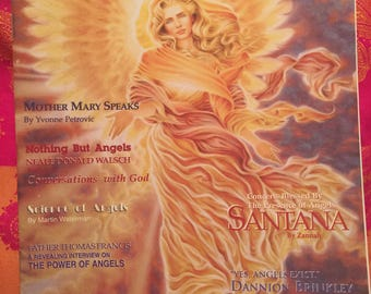 Angel times magazine vol.1 issue 6,1995: dannion Brinkley,Santana, terry Lynn Taylor, Science of angels,  Neil Donald Walsch