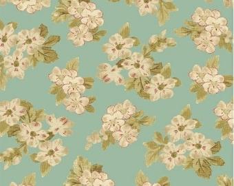 Bouquet on Aqua 42648-2 - AUBREY -  Windham Fabrics - By the Yard