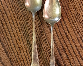 2 Matching Silver Plate Serving Spoons