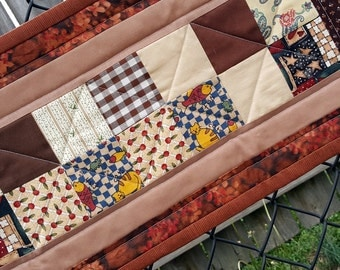 Quilted Table Runner, Dresser Topper or Mat, Wall Hanging,  Primitive or County Home Decor, Perfect for narrow table
