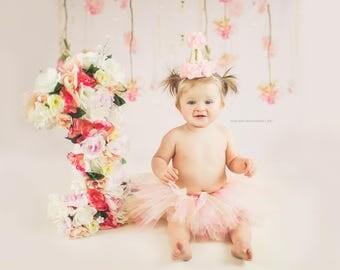 Pink Tutu | First Birthday Tutu | Photo Prop | Peach Tutu | Blush Tutu | 1st Birthday Tutu | Onederland Tutu | Baby Tutu | Toddler Tutu