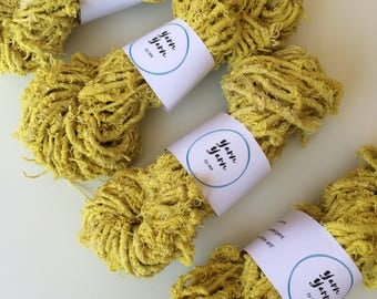 Cotton yarn, 100g, eco yarn, ethical cotton. Chunky art yarn. Jewellery making, weaving, knit.