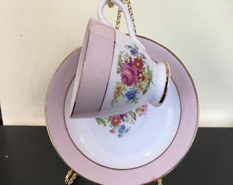 English Bone China Tea Cup and Saucer Set