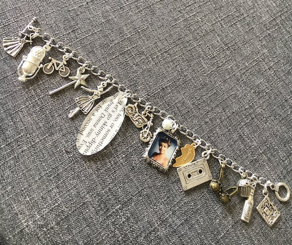 The Most Beautiful Dream and The Worst Nightmare, Twin Peaks influenced Charm Bracelet. Inspired by Laura & Donna.