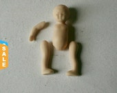 Closeout - Small Porcelain Bisque Baby Doll Parts Nearly Complete Set for Doll Making