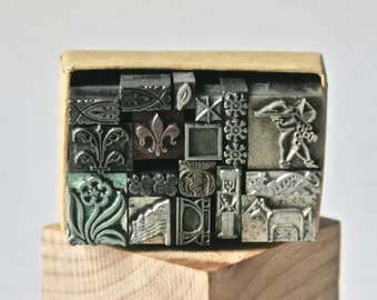 Vintage Letterpress Dingbat or Ornament Collection for Printing Stamping and Decor