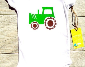 Children Farm Tractor Construction Truck Toddler T-Shirt or Baby Onesie