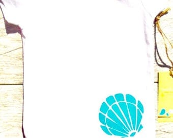 Children - Sea Shell - Beach - Ocean - Toddler T-Shirt or Baby Onesie