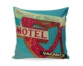 Heart o' Town Neon Sign Pillow Cover | Mid Century Modern Decor | Mid Century Pillow | Valentines Day Decor | Glamping Decor | Reno Decor
