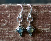 labradorite charm earrings