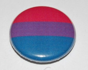 Bi Pride Flag Button Badge 25mm / 1 inch LGBT
