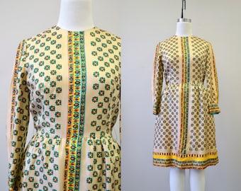 1960s Printed Dress