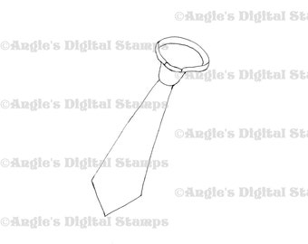 Tie Digital Stamp Image