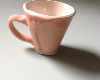 Small coral demitasse