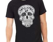 Craft Beer Shirt, Hops Skull, Hoppy Beer Shirt, Shirt for Homebrewer, Skull Shirt, Beerfest, Christmas Gift, Fathers Day Gift, Birthday