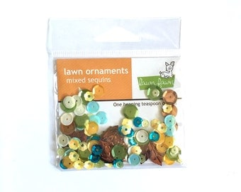 Lawn Fawn Ornaments Mixed Sequins - Into the Woods