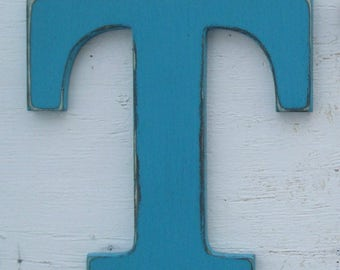 """one painted 10"""" wood letter pick your color"""