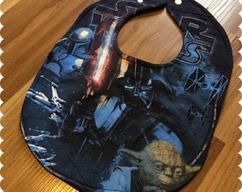 Star Wars Baby Bib, Recycled T-Shirt Baby Bib, Baby Boy Baby Shower Gift, Darth Vader, Yoda