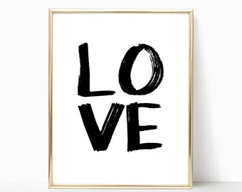 SALE -50% Love Digital Print Instant Art INSTANT DOWNLOAD Printable Wall Decor