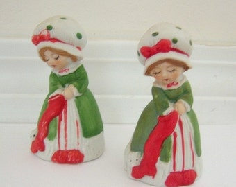 Vintage 1978 Jasco Merri-Bells Fine Porcelain Figurine Bell Christmas Collection