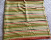 Large Wool Fabric Piece, Striped Fabric