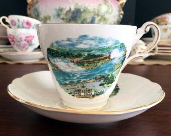 Regency Bone China Tea Cup Teacup and Saucer - Niagara Falls Souvenir 13801